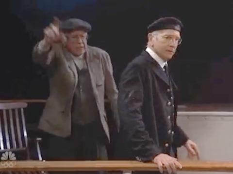 Bernie Sanders Joins Host Larry David in 'SNL' Titanic Spoof