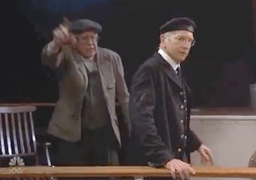 Bernie Sanders Joins Host Larry David in 'SNL' Titanic Spoof
