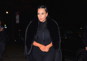Kim Kardashian Rocks Skintight Jumpsuit 2 Months After Saint's Birth