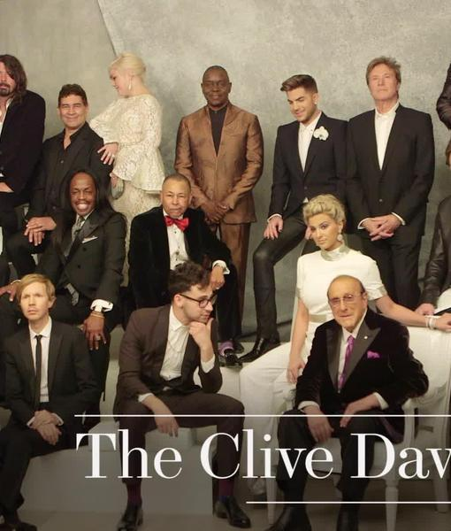 Behind-the-Scenes Look at Clive Davis' Grammy Party Class Photo – Watch!