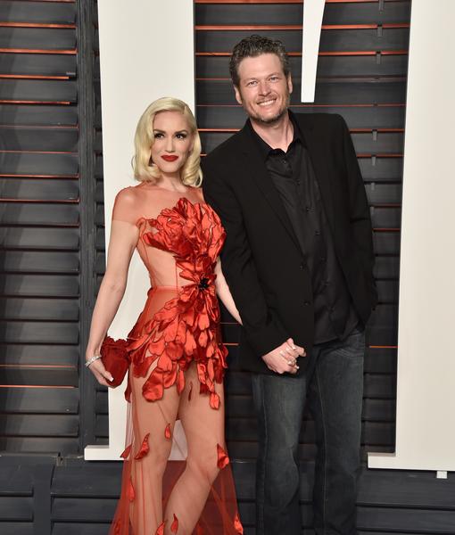 Gwen Stefani & Blake Shelton's Red-Carpet Debut at Vanity Fair Oscar Party