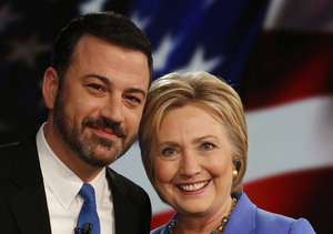 Jimmy Kimmel Mansplains Hillary Clinton's Speech Style, Suggests New Campaign…