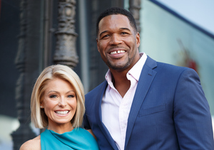 Inside 'Live!' Taping: Kelly Ripa & Michael Strahan Seemed Happy to Be…