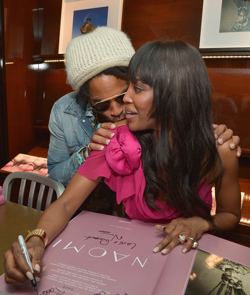 Naomi Campbell & Lenny Kravitz's Flirt Fest — Are They Dating?