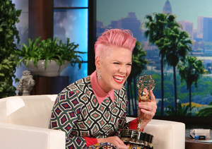 Pink Remembers First Meeting with Prince and Dishes on Mother's Day Plans
