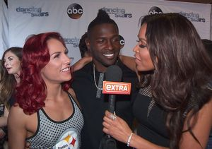Backstage at 'DWTS': Antonio Brown & Sharna Burgess on Their Elimination