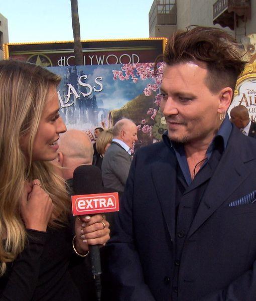 Johnny Depp Jokes About Kissing Jimmy Kimmel, Talks 'Alice' & 'Pirates of…