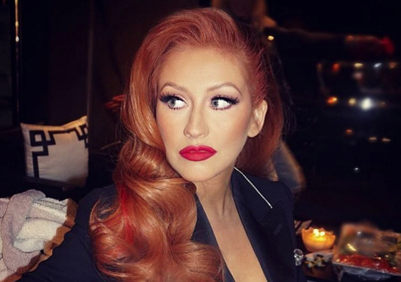 Red-Hot! Have You Seen Christina Aguilera's New 'Do?