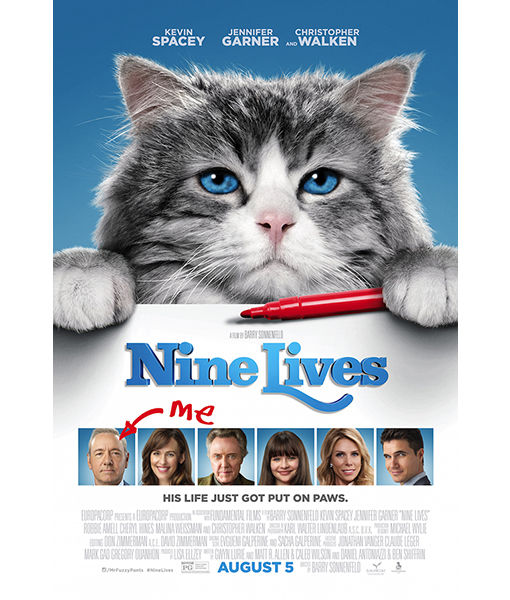 Win It! A Prize Pack from 'Nine Lives' and a $25 Fandango Gift Card