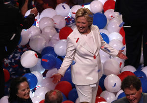 Reactions to Hillary Clinton's Glass-Ceiling-Shattering Democratic Nomination