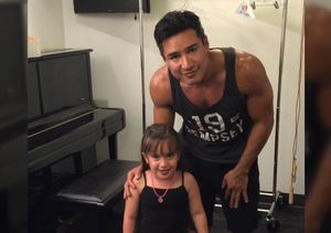 Backstage with Mario Lopez as He Warms Up for 'A Chorus Line'