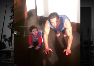 Mario Lopez & His Son Do the 22 Push-Up Challenge to Honor Those Who Serve