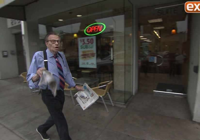 Larry King Spotted in Beverly Hills