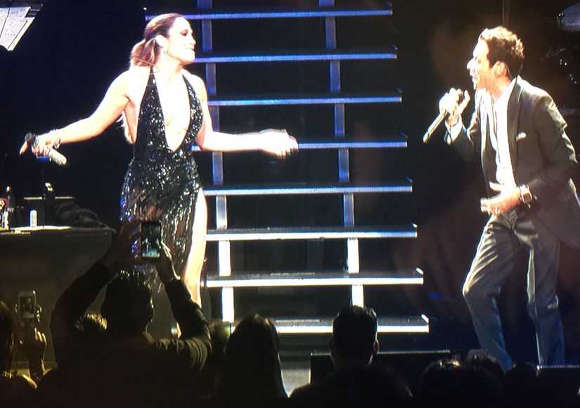 Image result for J.Lo surprised ex-husband, Marc Anthony, onstage at his The Private Collection concert in NYC,