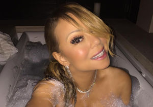 Pics! Mariah Carey Poses in Tub Wearing Nothing But Bubbles and Diamonds