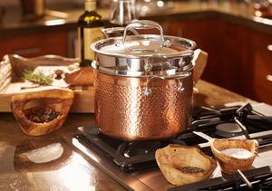 Win It! A Lagostina Martellata Copper Pasta Pot with Pasta Insert