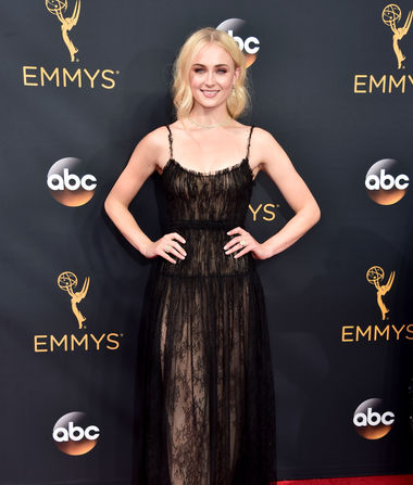 Sophie Turner Stuns in See-Through Emmys Gown
