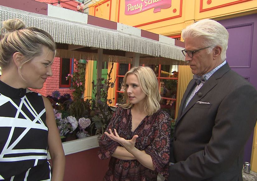 'Extra' Set Visit: Ted Danson Dishes on His 'Good Place' Character