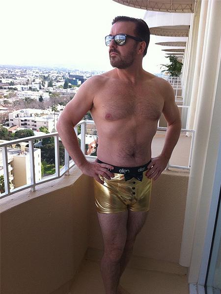 ricky gervais underwear gold ellen