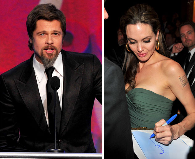Brad Pitt and Angelina Jolie at DGA awards