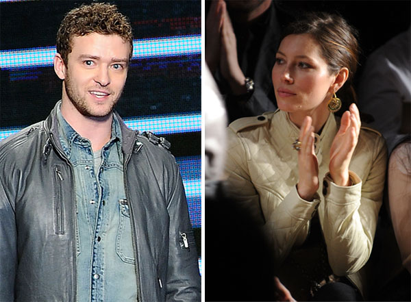 Jessica Biel supports Justin Timberlake at Fashion Week