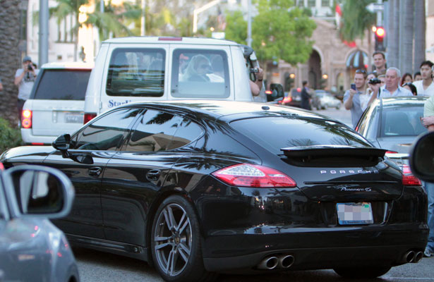 Panamera car - Color: Black  // Description: delicate