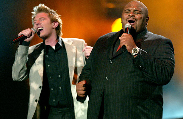 Photo of Clay Aiken & his friend  Ruben Studdard