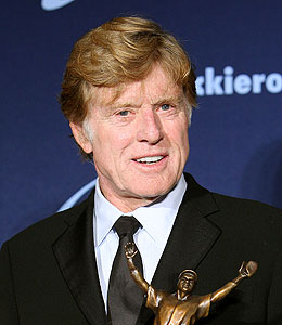 robert redford ties the knot