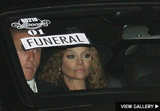 La Toya Jackson at Michael Jackson's funeral