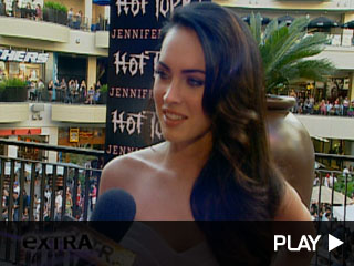A quick bite with Megan Fox
