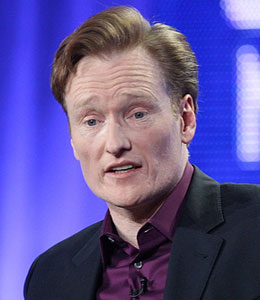 Conan O'Brien hit his head while attempting a stunt for the show
