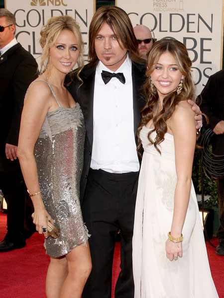 miley, billy ray and tis