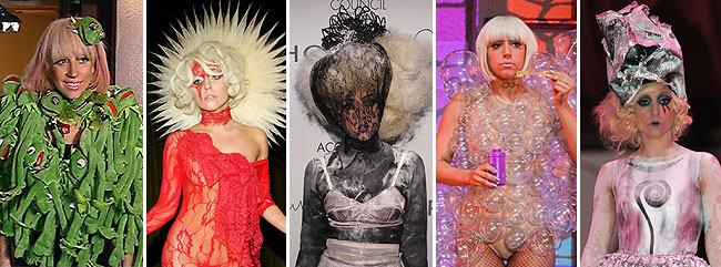 lady gaga wild outfits