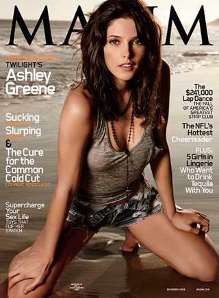 Ashley Greene on the cover of Maxim