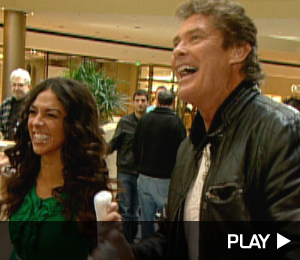 David Hasselhoff Plays Wii Boxing