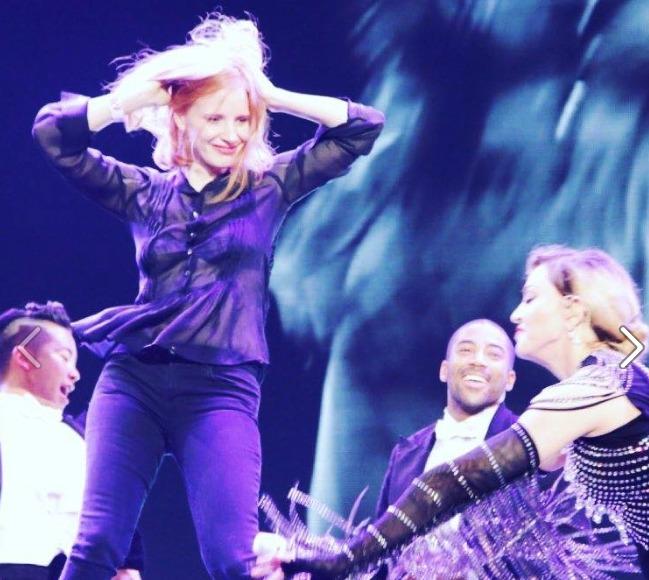 Jessica Chastain Spanks Madonna In Prague